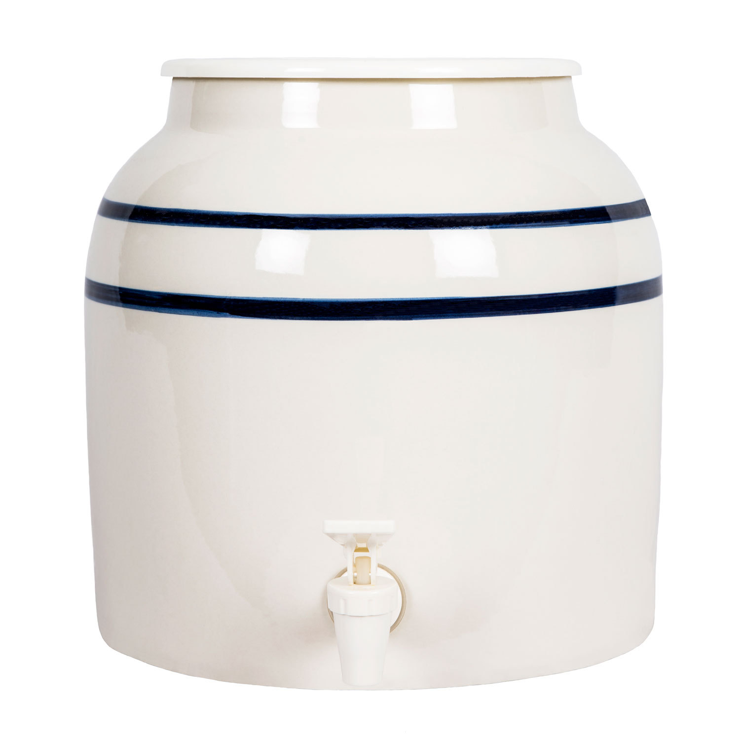 Ceramic Well-Blue Stripe